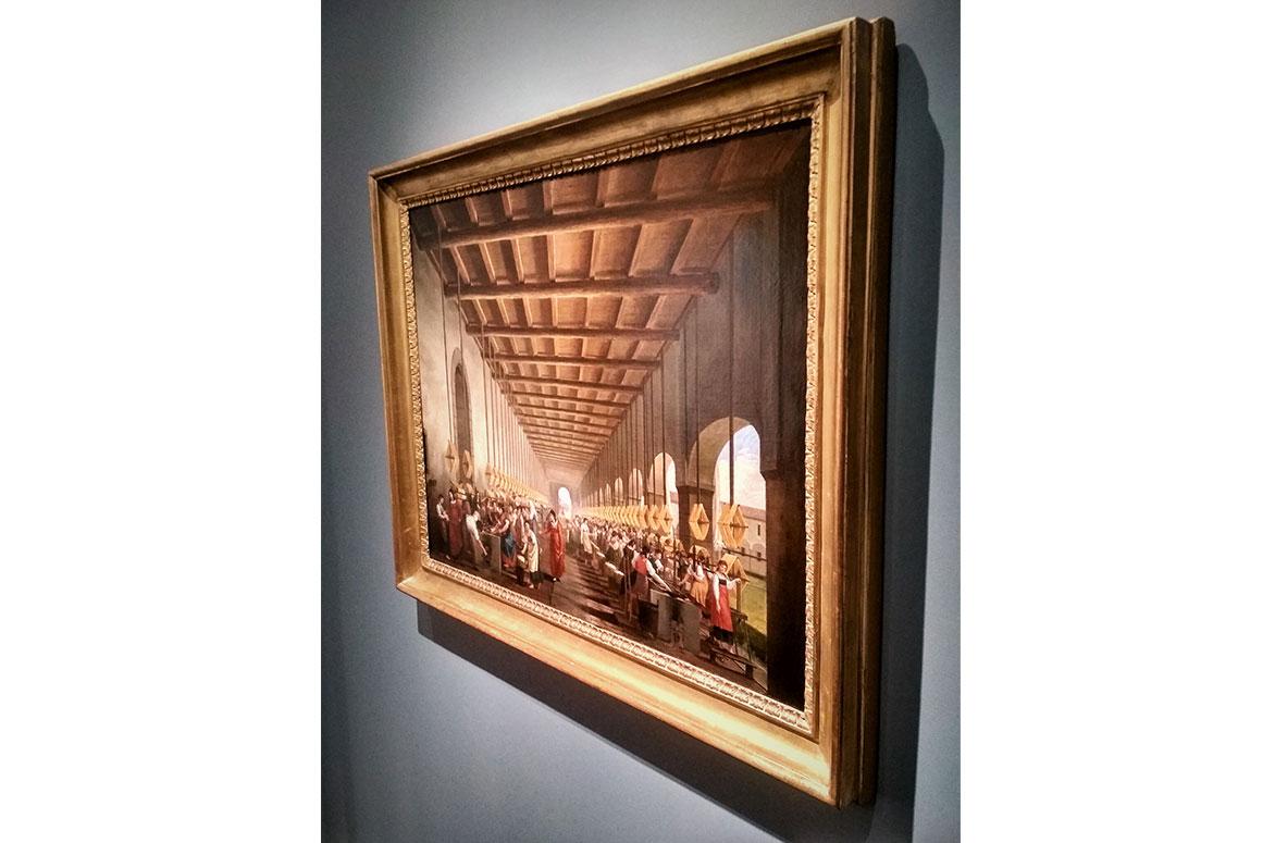 Filanda nel bergamasco (Olio su tela) di Pietro Ronzoni
