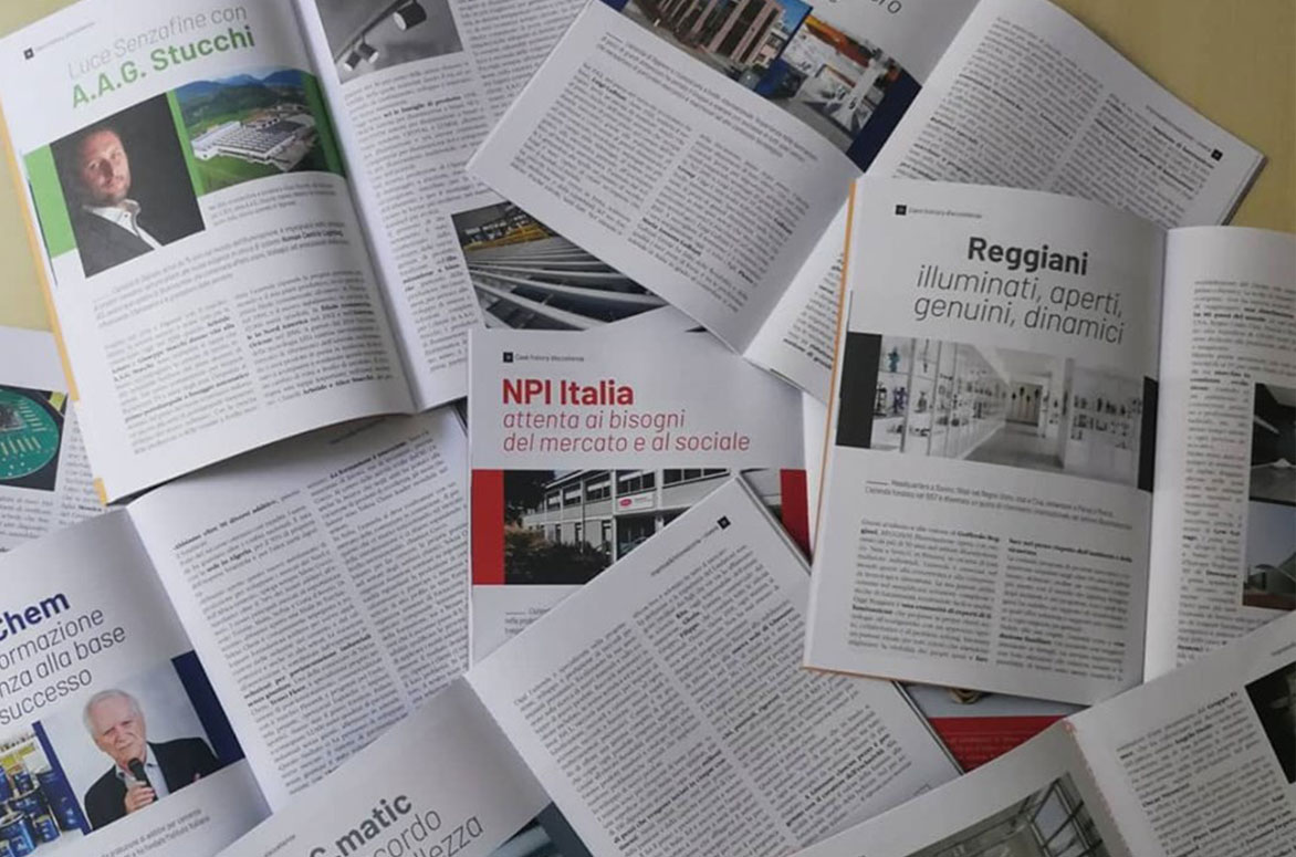 Interviste su C.Matic, Technoprobe, REGGIANI Illuminazione, Tekna Chem, A.A.G. Stucchi, Galbiati Group, NPI Italia e Level Office Landscape